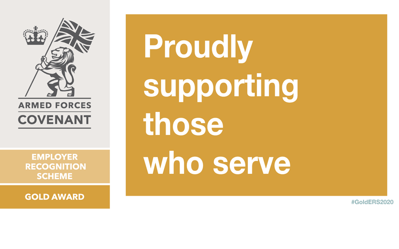 Veterans HQ receives The Employer Recognition Scheme Gold Award